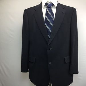 Men's 46R suit/blazer coat blue pure wool HSM nice